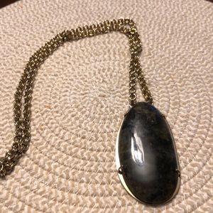 EUC Stella & Dot stone gold statement necklace
